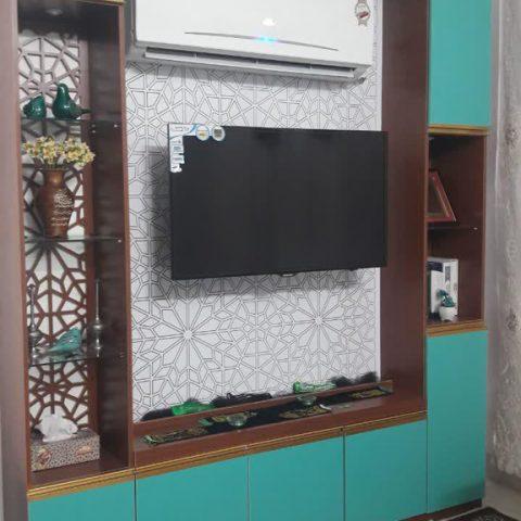 دکور LCD و کتابخانه آقای یخکشی