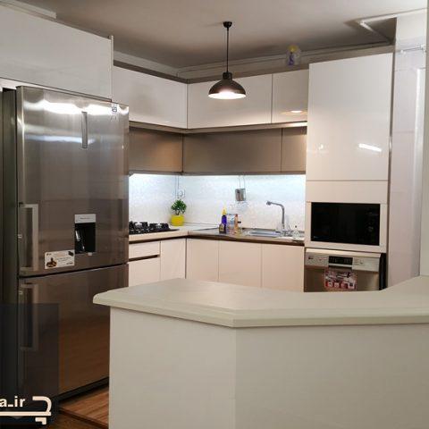 کابینت آشپزخانه هایگلاس آقای امینی ۱۷۱۳