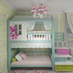 تخت دو طبقه اتاق کودک 36