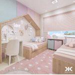 تخت دو طبقه اتاق کودک 49