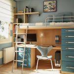 تخت دو طبقه اتاق کودک 97