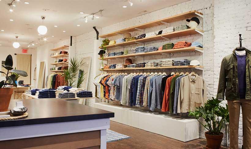 دکور مغازه لباس آقایان 1