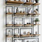 قفسه چوبی و فلزی 1