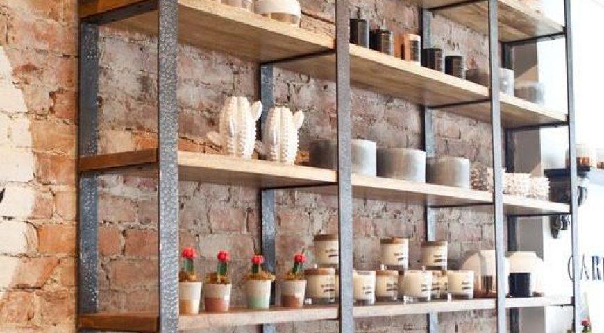 گالری تصاویر قفسه چوبی و فلزی فروشگاه