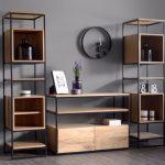 قفسه چوبی و فلزی 10